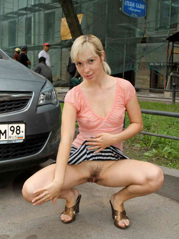 Summer photos of on russian blonde flasher.