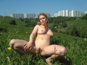 Amateur-russian-girl-takes-off-her-dress-and-posing-naked-at-public-park-13